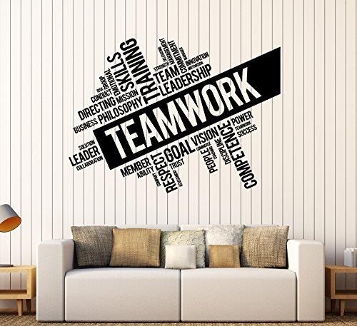 Vinyl Wall Decal Teamwork Success Office Decor Worker Stickers (ig4152) Black by Wallstickers4you (Image #4)