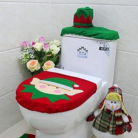 TiTaKa Decorazioni Natalizie Personaggi Natalizi copriletti Natalizi Decorazioni per Il Bagno Decorazioni per la casa Decorazioni per la Toilette per Il Bagno