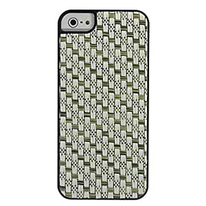 DiscoveryBuy Fresh Woven Fabric Straw Mat Style PC Hard Case for iPhone 5/5S