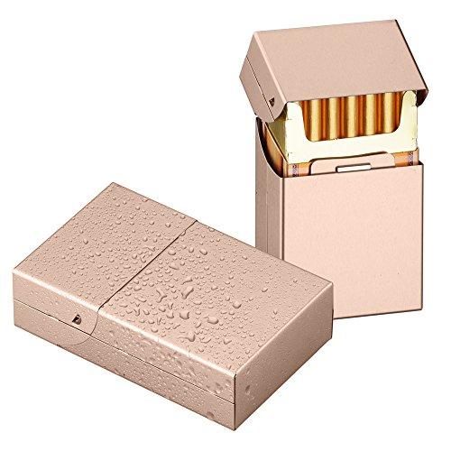 Cigarette Case Hard Box Full Cigarette Pack Holder Lightweight Aluminium Cigarette Box Cigar Protective Cover Q&G - Holder Pack Cigarette