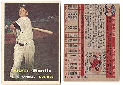 Mickey Mantle 1957 Topps Baseball Card