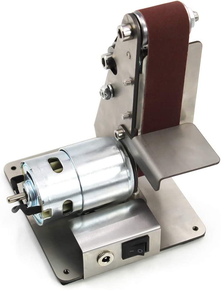 Festnight Micro Mini Electric Bandschleifer DIY Polierschleifmaschine Festen Winkel Sch/ärfblatt Bank Maschinen