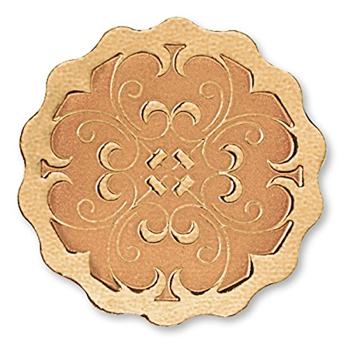Scalloped Deluxe Embossed Bronze Foil Certificate Seals, 1 3/8 Inch, Self Adhesive, 32 ()