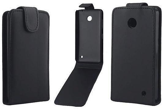 Las Fundas de teléfono LYNHJCCell Estuche for Celular Estuche Vertical de Cuero con Cierre magnético for Nokia Lumia 630 (Negro) (Color : Black): Amazon.es: Electrónica