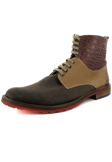 9fe2e1eb7ea216 Manz Sale Nizza - Herren Boots - Braun Schuhe in Übergrößen