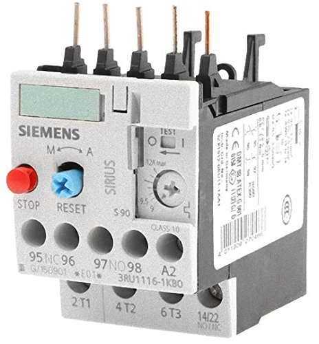 White for CONTACTOR MOUNTING Class 10 Size S00 9.12 A Siemens 3RU1116-1KB0 Overload Relay 1NO+1NC