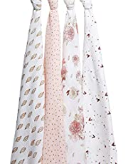 aden + anais Classic Muslin Swaddles 4 Pack, Multi, 4 Count