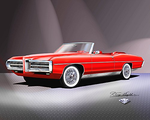 1969 CUSTOM PONTIAC BONNEVILLE GT Diamond in the Back edition- ART PRINT POSTER BY ARTIST DANNY WHITFIELD - SIZE 24 X 36