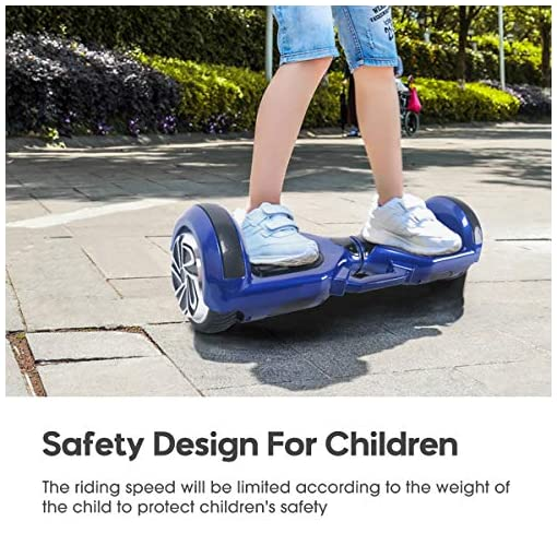 WINGOO Overboard – Enfant Super Cadeau, 6.5″ Hoverboard Tout Terrain Adulte Balance Board, Pas Cher LED Skateboard, Basic Challenger Gyropode