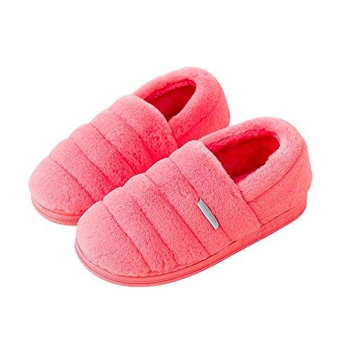Cotone fankou pantofole femmina pacchetto completo con home caldo inverno pacchetto spesso seguita da uomini e ,37-38, nero