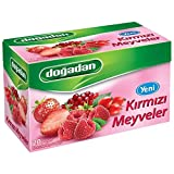 Dogadan Red Fruits, Mixed Fruit Tea, 3 Pack (Each 20 Tea Bags X 3)