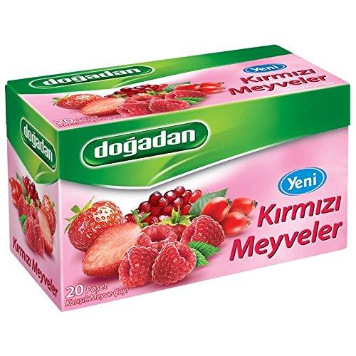 Dogadan Red Fruits, Mixed Fruit Tea, 3 Pack (Each 20 Tea Bags X 3) by Dogadan