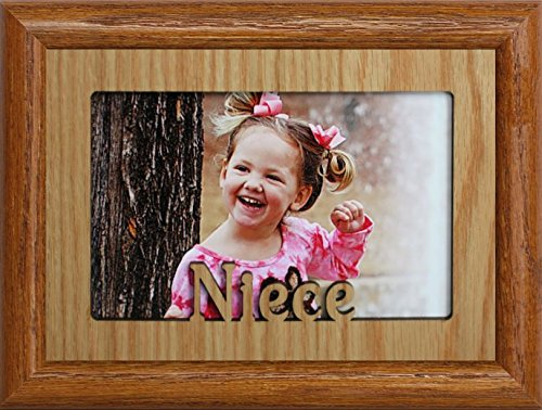 JoyceBoyce.com ~ Niece ~ Landscape Oak Mat Picture Frame ~ Holds a 4x6 or Cropped 5x7 Photo ~ Wonderful Keepsake Gift for a Proud Uncle or Aunt ()