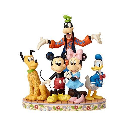 - Jim Shore Disney Traditions by Enesco Fab 5 Mickey, Minnie, Donald, Goofy and Pluto Figurine