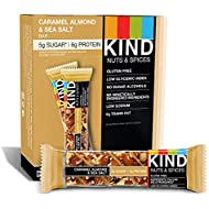 KIND Bars, Caramel Almond and Sea Salt, Gluten Free, 1.4 Ounce Bars, 12 Count (Packaging May Vary)