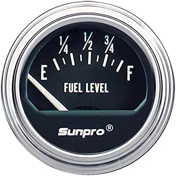 51SCZJEBWZL._SL500_AC_SS350_ amazon com sunpro cp8209 styleline electrical fuel level gauge sunpro gauges wiring diagram at reclaimingppi.co