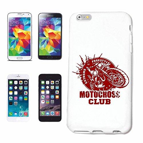 """cas de téléphone iPhone 6S """"MOTOCROSS CLUB EXTREME SPORTS MOTOCROSS MOTOCROSS BIKE OUTDOOR Crossbike FREESTYLE"""" Hard Case Cover Téléphone Covers Smart Cover pour Apple iPhone en blanc"""