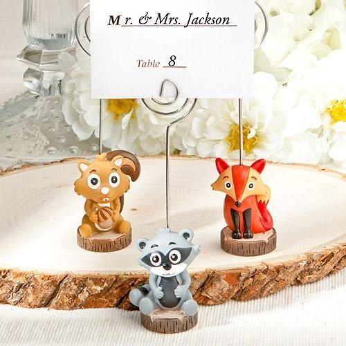 6 Assorted Critter Inspired Name / Note Wedding Place Card Holders Favours Gifts dso