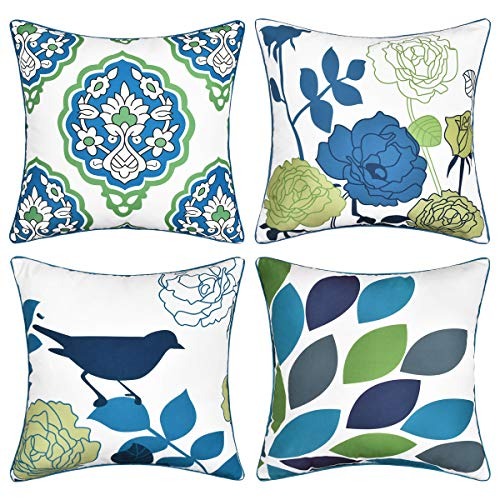 Geometric Mordern Pattern Pillowcase Set of 4 Square Piping Throw Pillow Covers Cushion Covers Best Gifts Daily Decorations ()