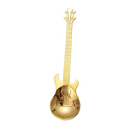 TAOtTAO Cucharas de Acero Inoxidable para Guitarra, Diseño de Arcoíris, 0.06, Color Dorado