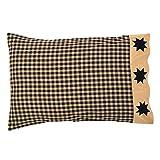 Cheap VHC Brands Classic Country Primitive Bedding – Dakota Star Black Pillow Case Set, Standard