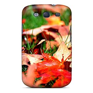 TFGko15137PVsbC Anti-scratch Case Cover AngelKiss Protective Fallen Leaves Case For Galaxy S3