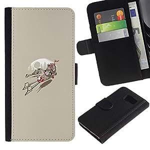 All Phone Most Case / Oferta Especial Cáscara Funda de cuero Monedero Cubierta de proteccion Caso / Wallet Case for Samsung Galaxy S6 // Ewok Race
