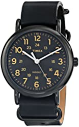 """Timex Unisex """"Weekender"""" Watch With Leather Band"""