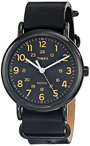 Watch Black Face Leather Band - 5