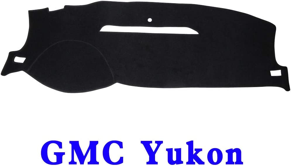 JIAKANUO Dash Cover Fit for GMC Yukon 2007-2014,Dashboard Mat Sunshield Protector Pad Non-Slip,Extra Thick Anti-Glare Black MR-001
