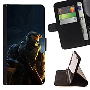 DEVIL CASE - FOR Apple Iphone 6 - Soldier Master Sarge - Style PU Leather Case Wallet Flip Stand Flap Closure Cover