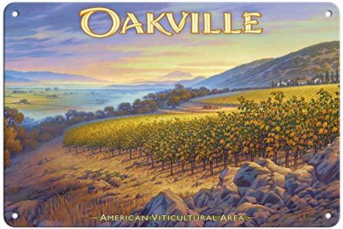 Oakville Napa Valley - Bruyu5se Aluminum Sign, Metal Sign, 7