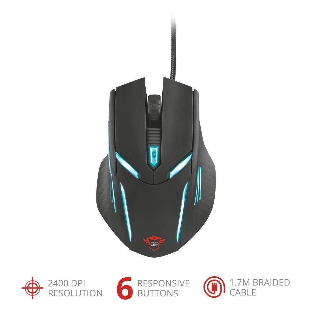 9dc62821258 Trust GXT 152 Gaming Mouse Illuminato con 6 Tasti e 2400 DPI: Amazon.it:  Informatica