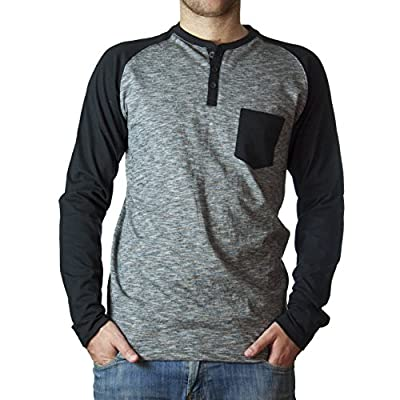 StraightFaded Fancy Fashion Raglan Henley Colorblock