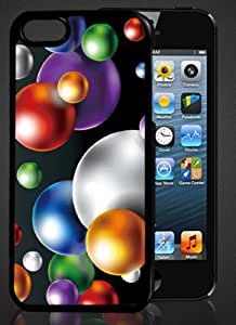 3D iPhone5 case Naked-eye-Flash effect-colorful balls-w/ bubble free screen protector
