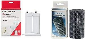 Frigidaire WF2CB PureSource2 Water Filter Cartridge, 1 Count, White & Electrolux Frigidaire EAF1CB PureAdvantage Refrigerator Air Filter, BLACK