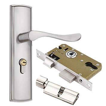 Interior puerta de madera mango cerradura cerradura de la puerta de aleación de zinc, Sistema de seguridad para el hogar: Amazon.es: Bricolaje y ...