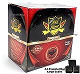 Black Diamond 144 Large Cube Pieces Flat 100% Natural Coconut Shell Hookah Charcoal 2kg Box Premium Shisha Coal Makers Of Dream D-Hose