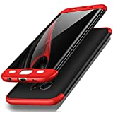 Winhoo Galaxy S7 Edge Case,3 in 1 Double Dip 360° Full Protection Ultra Slim Hard PC Cover Case for Samsung Galaxy S7 Edge (Black&Red)