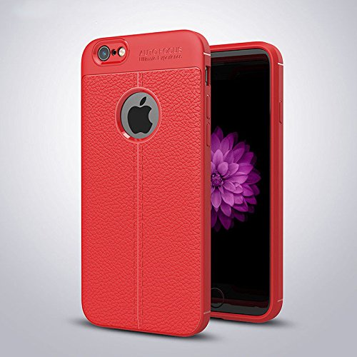 outlet store bed86 23368 iPhone 6/6s Plus Case Silicone, TPU Gel Leather Back Effect Auto ...