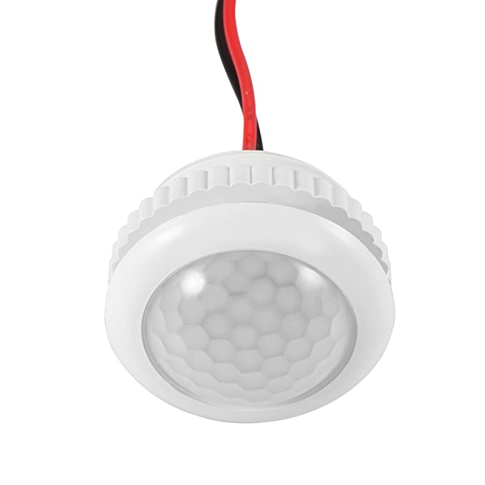 Interruptor de Sensor de Movimiento PIR de 360 Grados SK037 110 – 240 V y Lux con Interruptor de luz Ajustable para Luces LED, Color Blanco