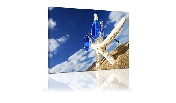 Bilderdepot24 Bastidor Imagen - Cuadros en Lienzo Estrella de mar 60x50cm - Made in Germany!: Amazon.es: Hogar