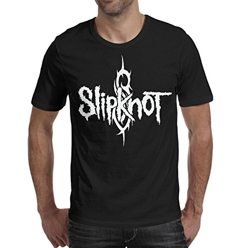 (Slipknot-Style-Logo-Symbol-American-Heavy-Metal-Band- Men's Short Sleeve Tshirts 100% Cotton O-Neck Printing tee)