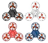 UK BONITOYS Handheld Flying Fidget Spinner,Anti-Anxiety ADHD Relieving Reducer Outdoor Hand Spinner Interactive Toys for Kids Adult (4colors)