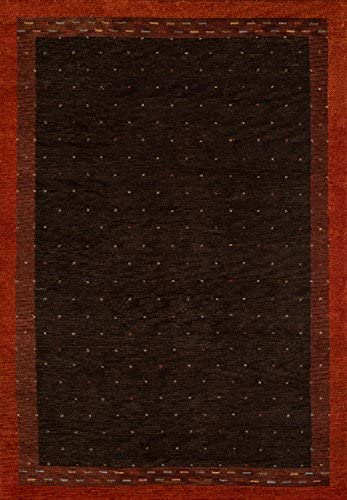 Momeni Rugs Desert Gabbeh Collection, 100 Wool Hand Knotted Contemporary Area Rug, 2 x 3 , Brown