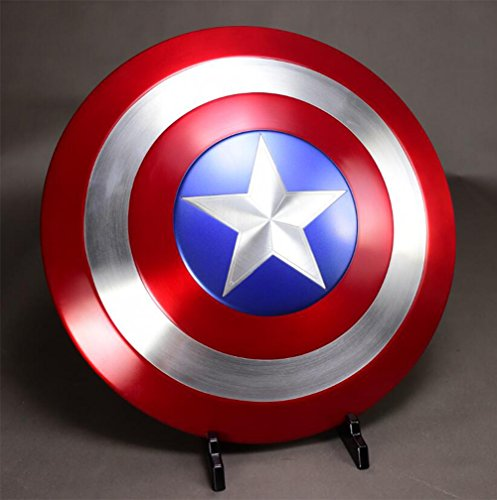 Captain America The Winter Soldier Costume Replica (Gmasking Aluminum Captain America The Winter Soldier Adult Shield 1:1 Replica+Adjustable Strap)
