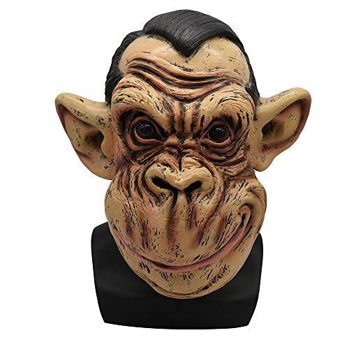 Halloween Mask Cute Fat Face Orangutan Mask Latex Animal Big Mouth Monkey Mask Prom Dress Up Props -