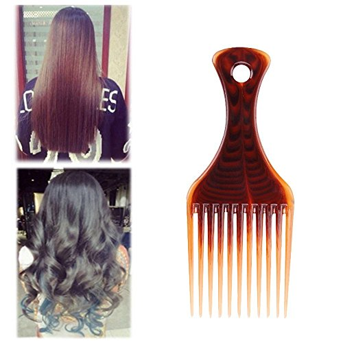 Fenleo Afro Comb Curly Hair Brush Salon Hairdressing Styling Long Tooth Styling Pick