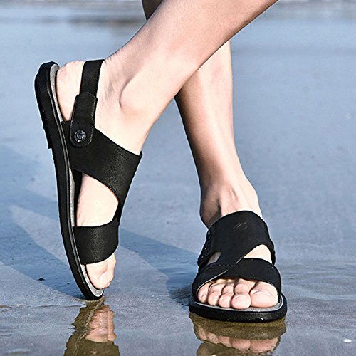 Pantofole Spiaggia Antiscivolo Black LEDLFIE Scarpe Estivi da da Traspiranti Sandali Uomo Eaw7YYxqS