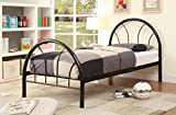 Furniture of America Andy Metal Youth Bed, Black, Twin